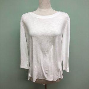 Kirkland Ladies' Slub Tee | white | Long Sleeve |L